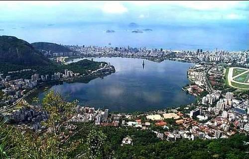 Vista da Lagoa apartir da trilha do Corcovado